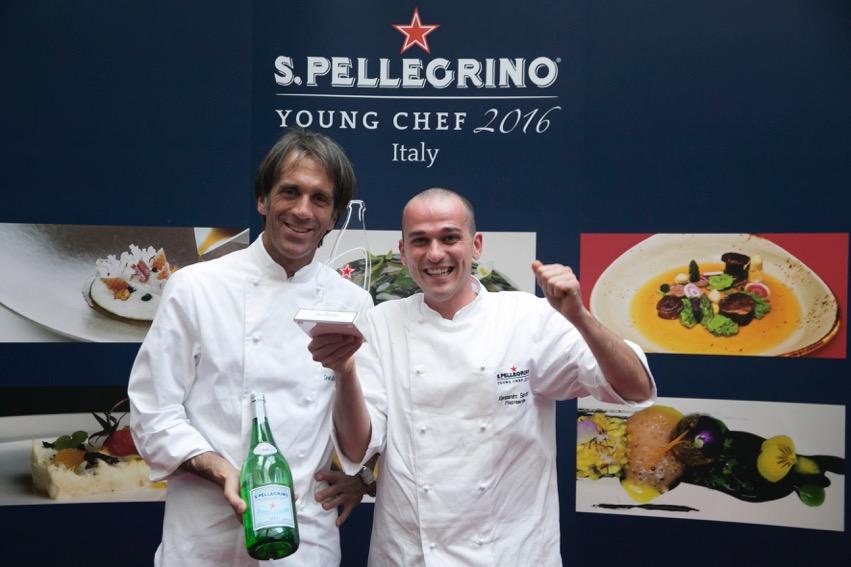 S.Pellegrino Young Chef 2016 Alessandro Rapisarda con lo chef mentore Davide Oldani