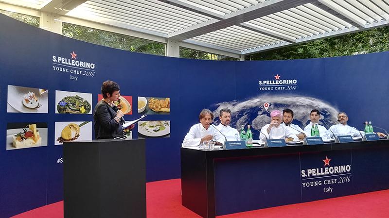 S.Pellegrino Young Chef 2016, giuria Italia: Davide Oldani, Andrea Berton, Cristina Bowerman, Alessandro Negrini, Fabio Pisani e Mauro Uliassi