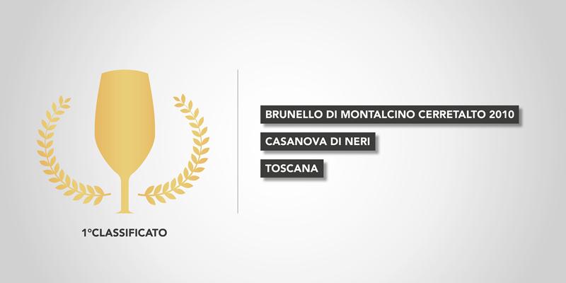 Cerretalto Brunello di Montalcino 2010 di Casanova di Neri - Miglior vino d'Italia 2016