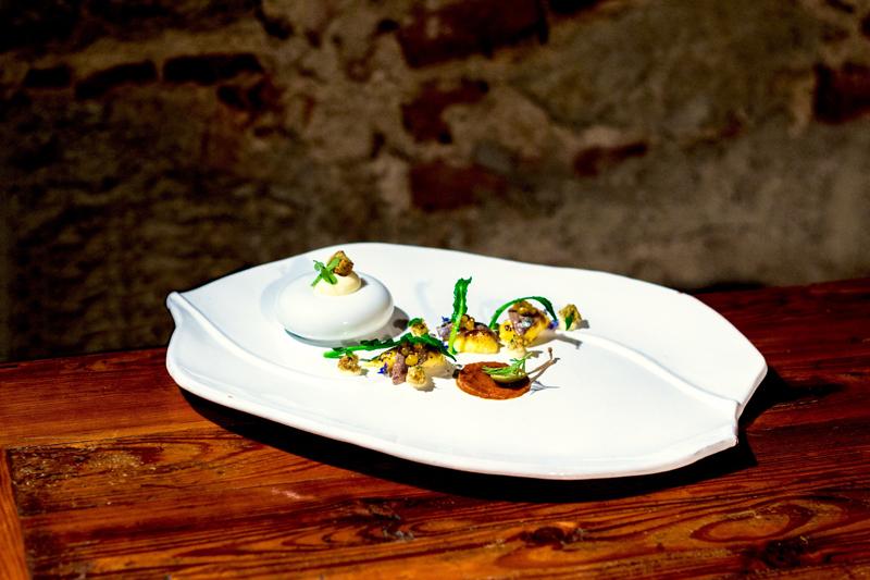 Gabrio Dei - Anchovy and burnt Egg Yolk (Alici e tuorlo d'uovo bruciato)
