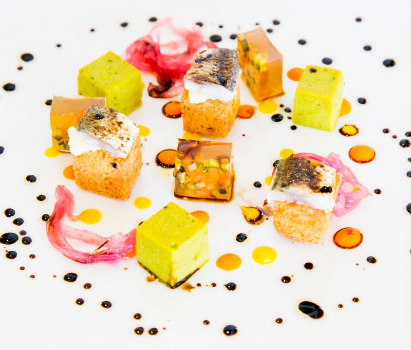 """Cubismo di sarde di lago, salsa verde e verdure agrodolci"" Philippe Léveillé"