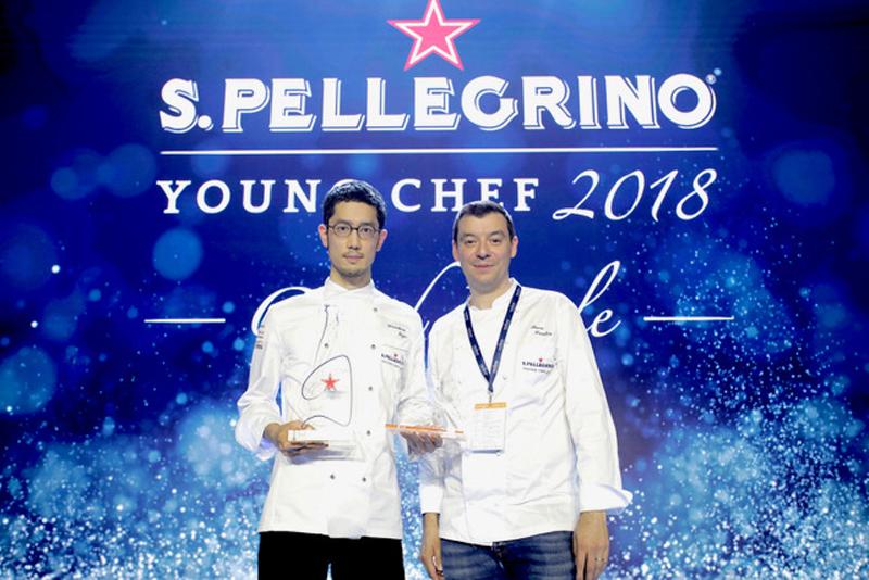 Miglior giovane chef al mondo 2018: Yasuhiro Fujio con lo chef mentore Luca Fantin